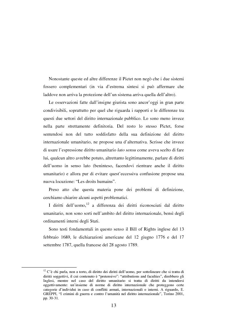 Anteprima della tesi: Le figure criminose previste dallo Statuto della Corte Penale Internazionale a confronto con quelle dello Statuto del Tribunale per l'ex-Jugoslavia, Pagina 7