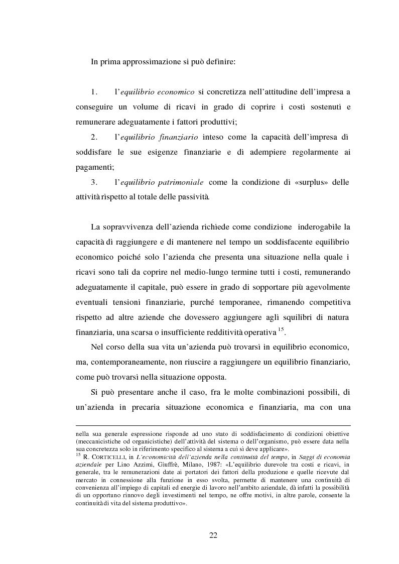 Anteprima della tesi: Crisi d'impresa. Processi degenerativi, strumenti di diagnosi e misure di prevenzione., Pagina 15