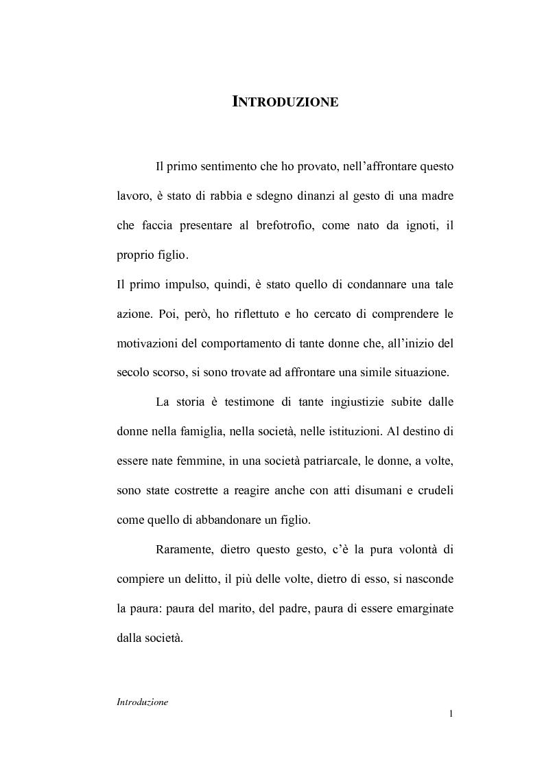Anteprima della tesi: La dichiarazione di filiazione illegittima di nato da donna maritata in rapporto alla legge penale, Pagina 1