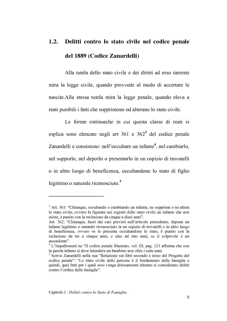 Anteprima della tesi: La dichiarazione di filiazione illegittima di nato da donna maritata in rapporto alla legge penale, Pagina 8