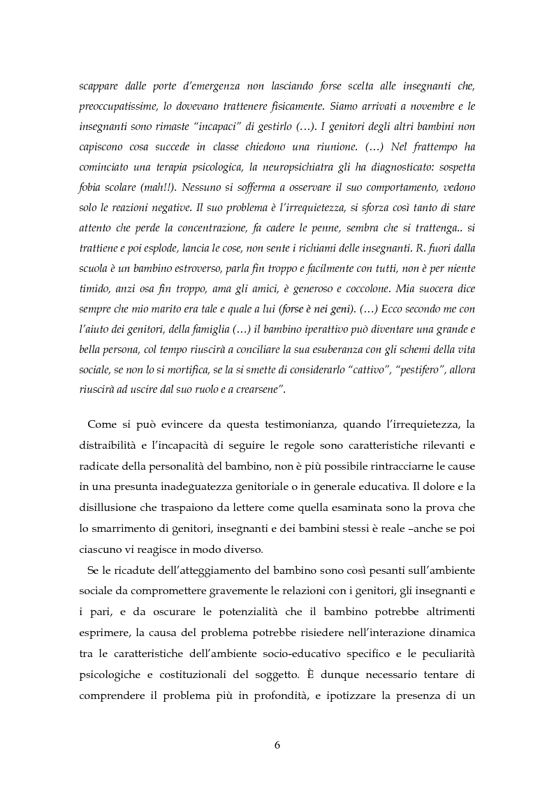 Anteprima della tesi: Il disturbo da deficit d'attenzione/iperattività: analisi della letteratura, Pagina 3