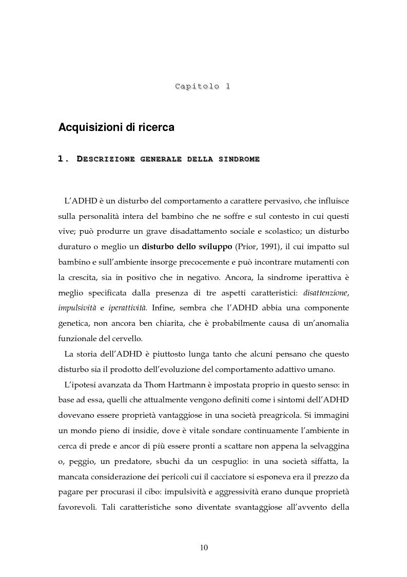 Anteprima della tesi: Il disturbo da deficit d'attenzione/iperattività: analisi della letteratura, Pagina 7