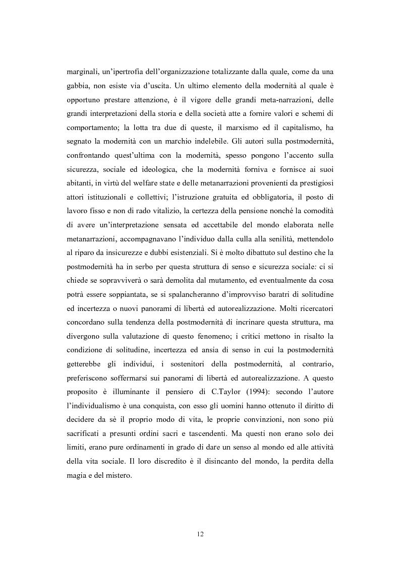 Anteprima della tesi: La postmodernità consumista. Uno studio del mondo contemporaneo attraverso il concetto di consumo, dalla vita quotidiana alle dinamiche internazionali, Pagina 11