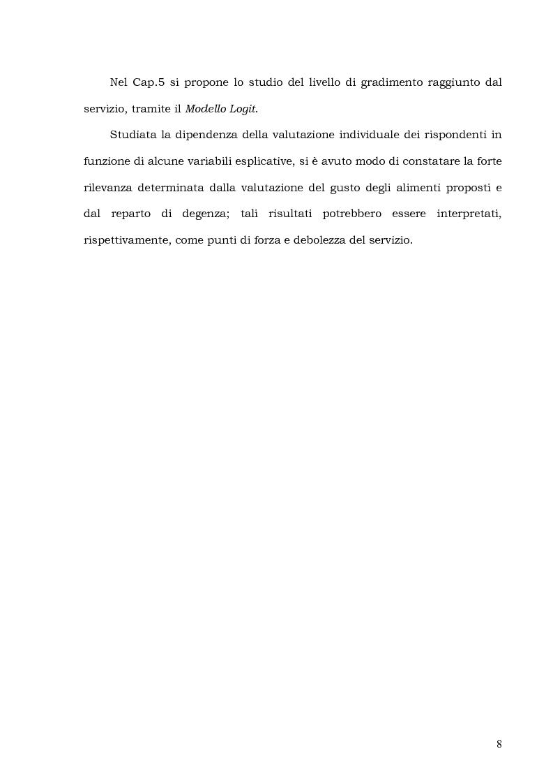 Anteprima della tesi: Customer Satisfaction nella ristorazione ospedaliera. Un'analisi al C.T.O. di Palermo, Pagina 4