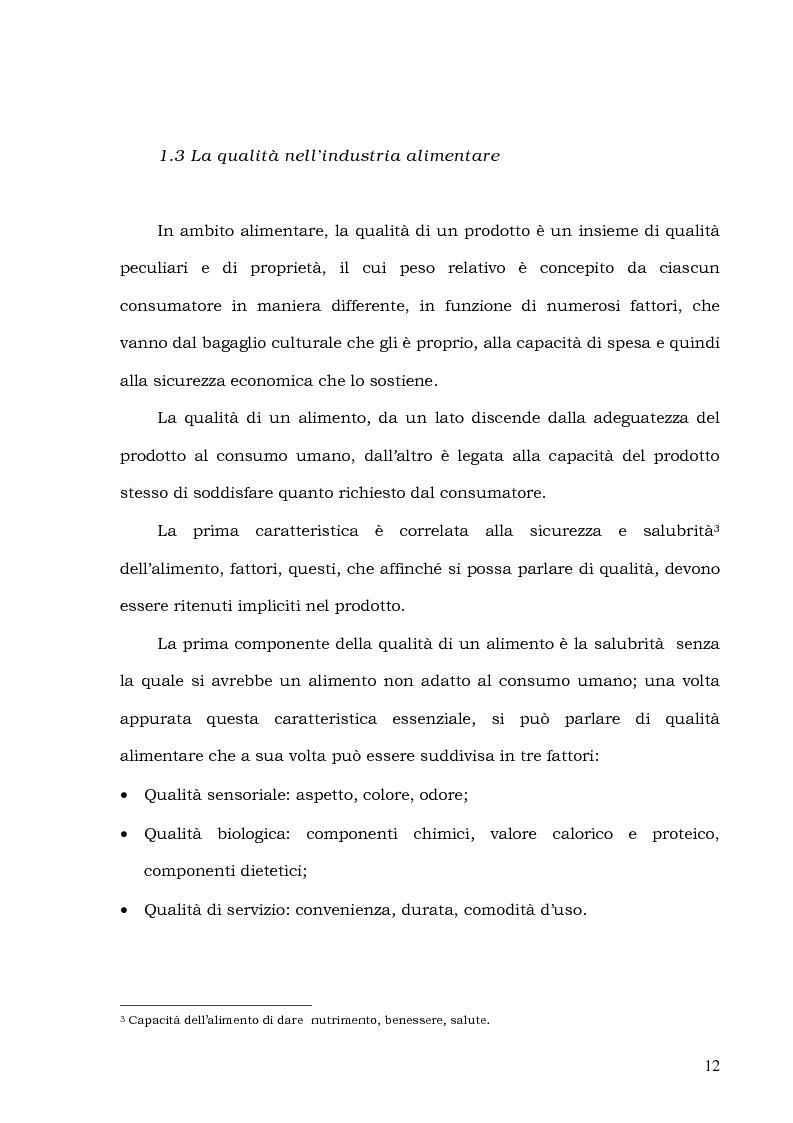 Anteprima della tesi: Customer Satisfaction nella ristorazione ospedaliera. Un'analisi al C.T.O. di Palermo, Pagina 8
