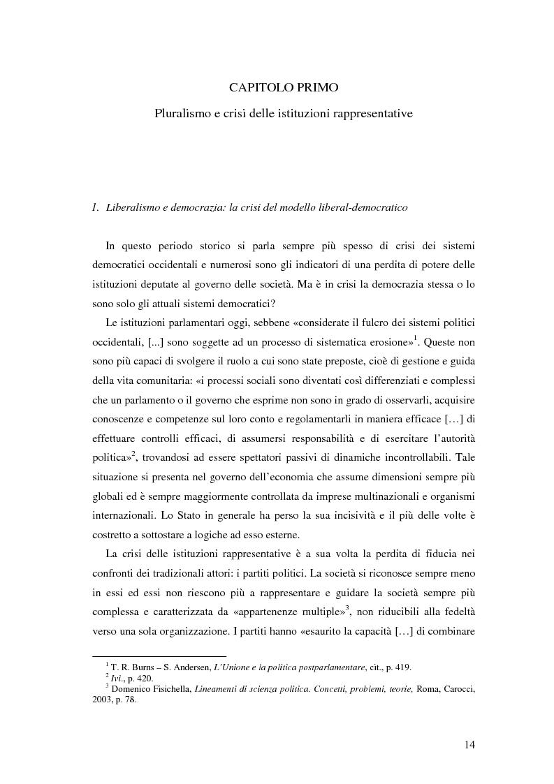 Anteprima della tesi: Autorità indipendenti, terzo settore e sussidiarietà nelle trasformazioni attuali dei sistemi democratici, Pagina 10