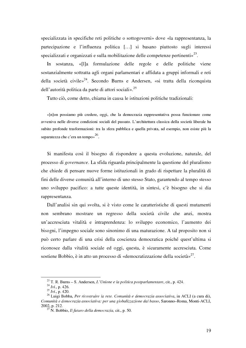 Anteprima della tesi: Autorità indipendenti, terzo settore e sussidiarietà nelle trasformazioni attuali dei sistemi democratici, Pagina 15