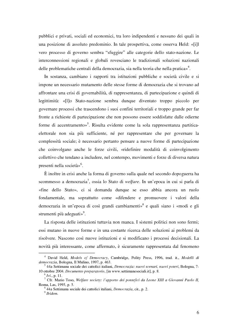 Anteprima della tesi: Autorità indipendenti, terzo settore e sussidiarietà nelle trasformazioni attuali dei sistemi democratici, Pagina 2