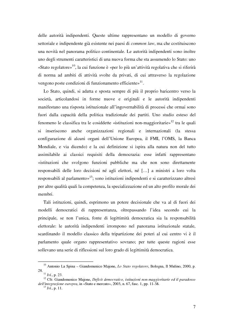 Anteprima della tesi: Autorità indipendenti, terzo settore e sussidiarietà nelle trasformazioni attuali dei sistemi democratici, Pagina 3