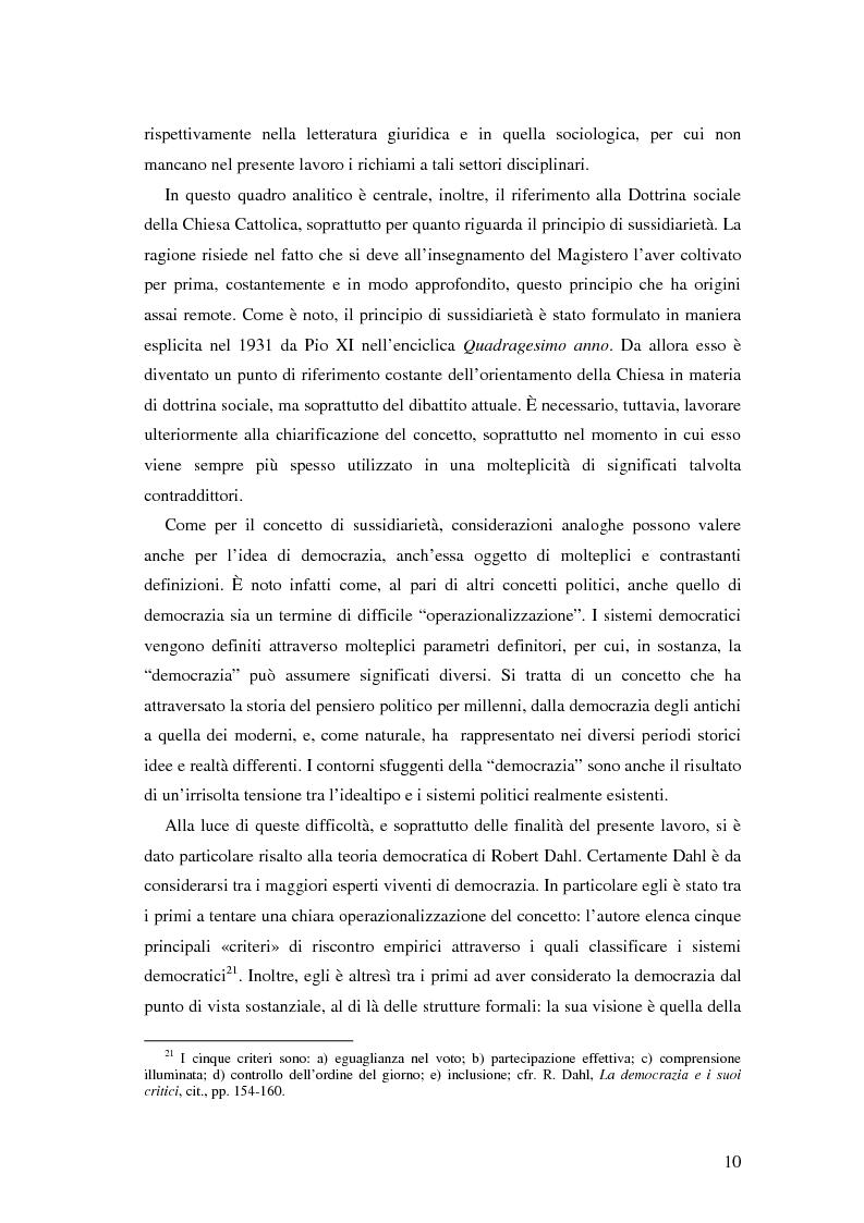 Anteprima della tesi: Autorità indipendenti, terzo settore e sussidiarietà nelle trasformazioni attuali dei sistemi democratici, Pagina 6