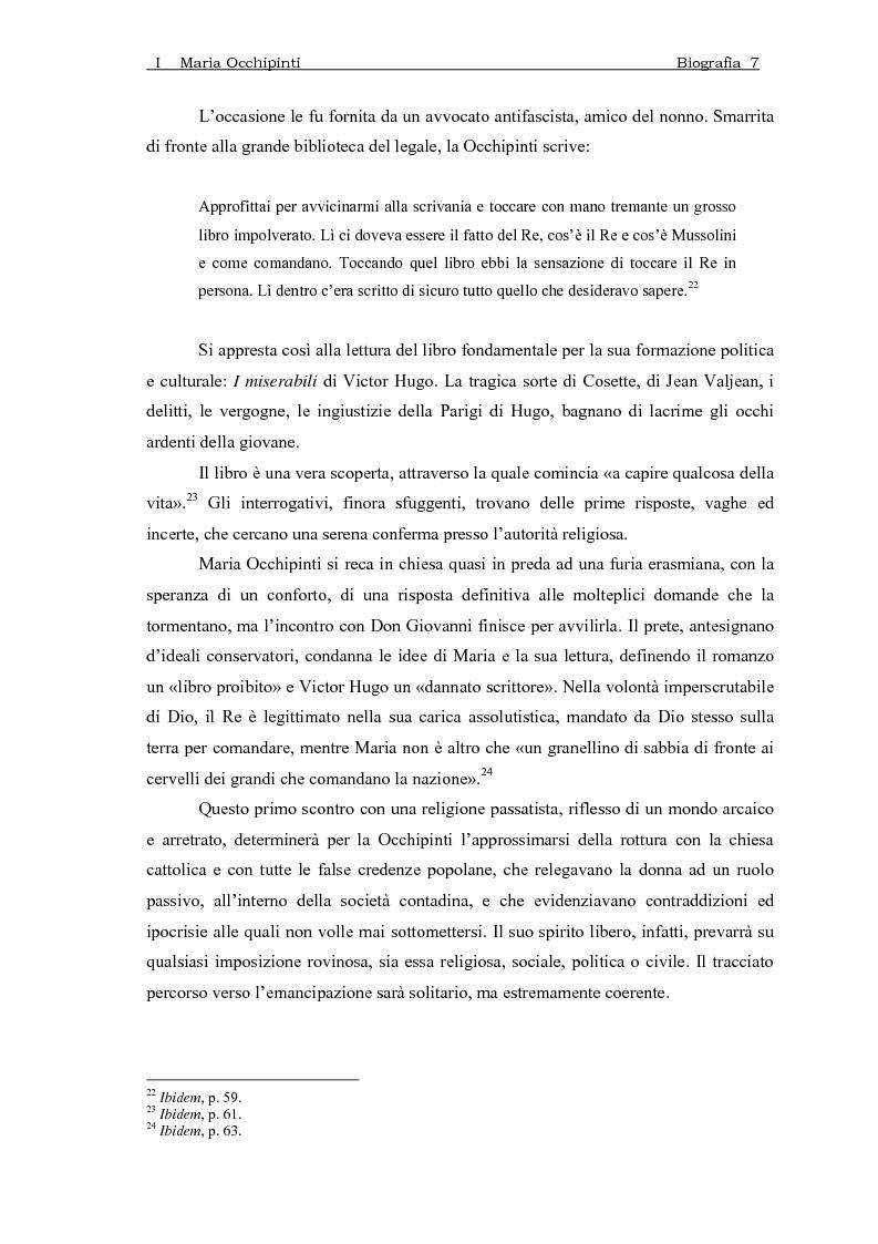 Anteprima della tesi: Maria Occhipinti: una ribelle del Novecento, Pagina 10