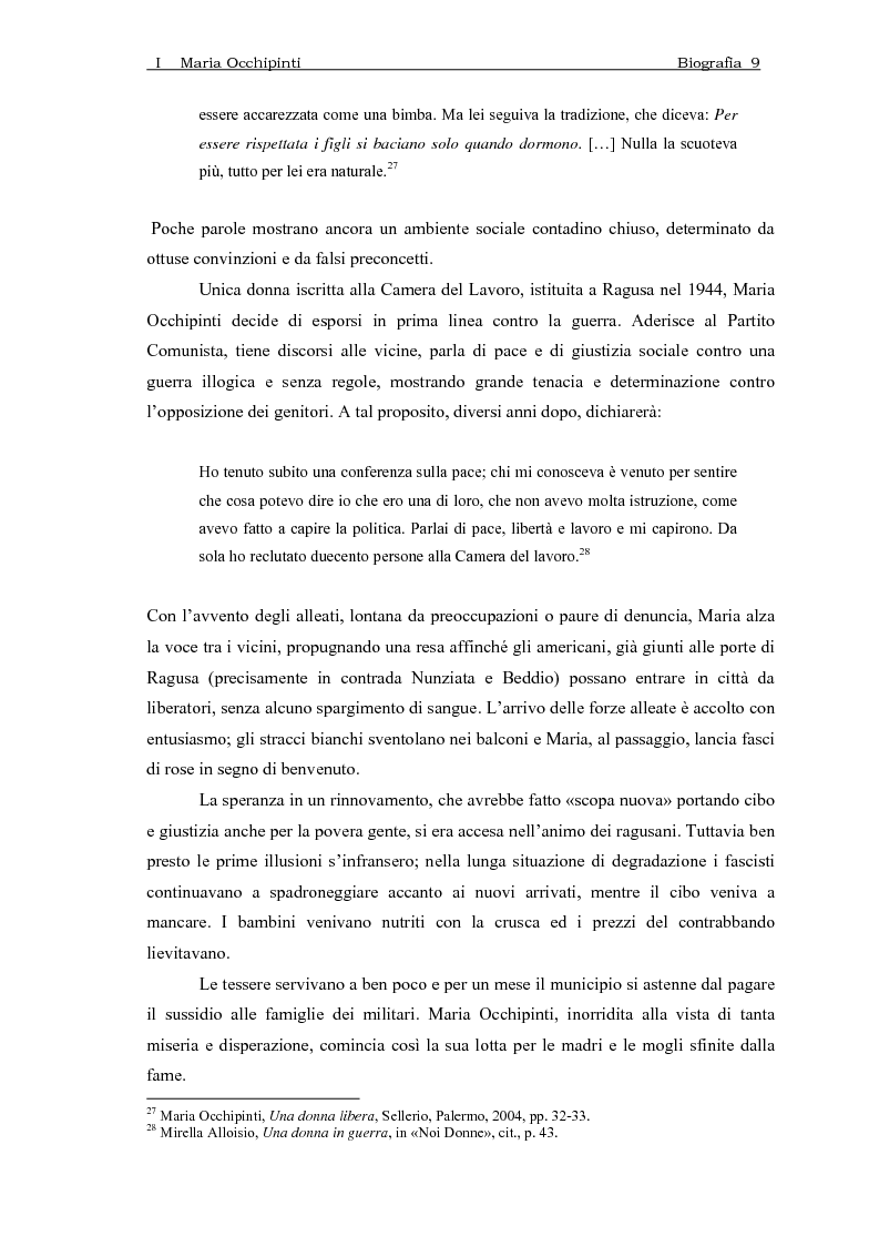Anteprima della tesi: Maria Occhipinti: una ribelle del Novecento, Pagina 12