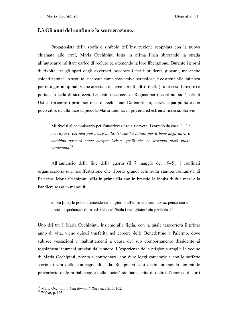 Anteprima della tesi: Maria Occhipinti: una ribelle del Novecento, Pagina 14