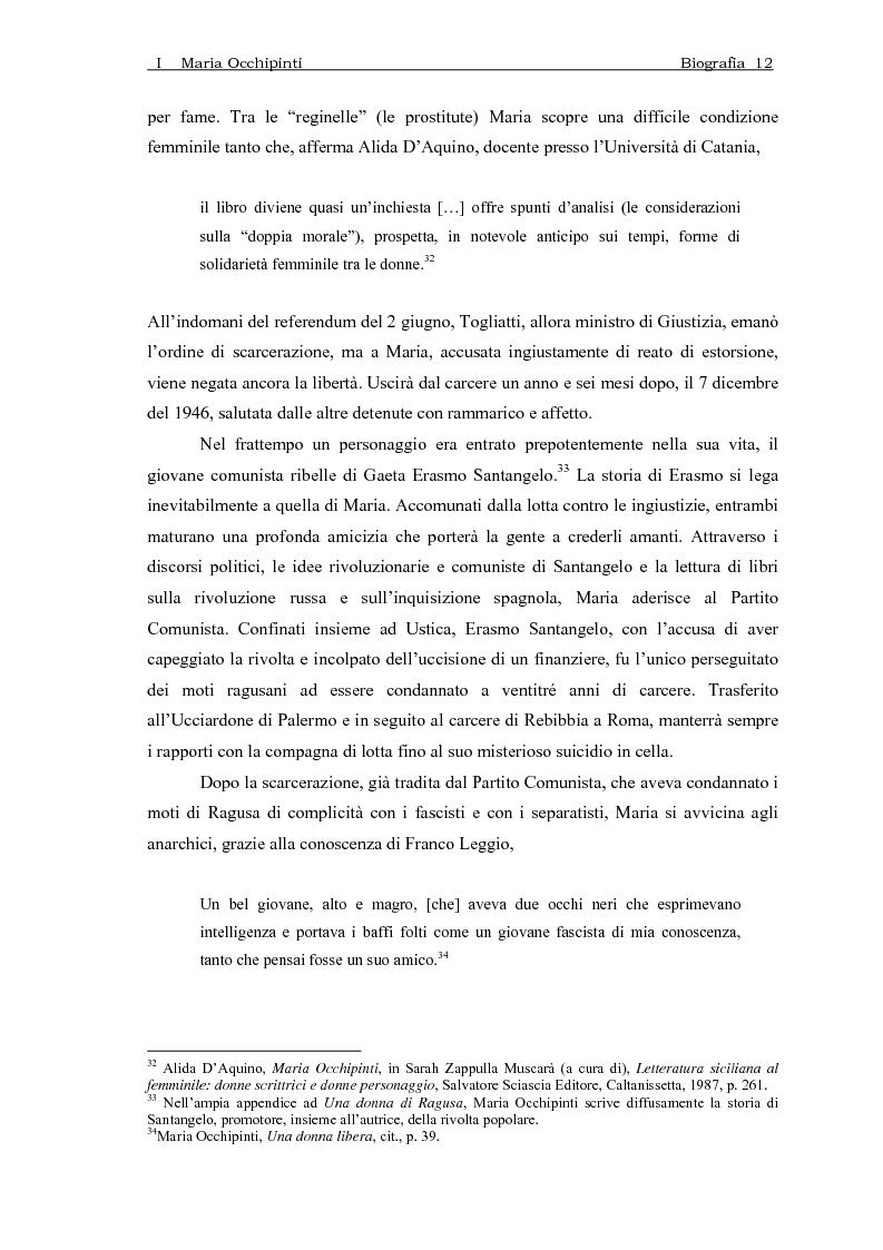Anteprima della tesi: Maria Occhipinti: una ribelle del Novecento, Pagina 15