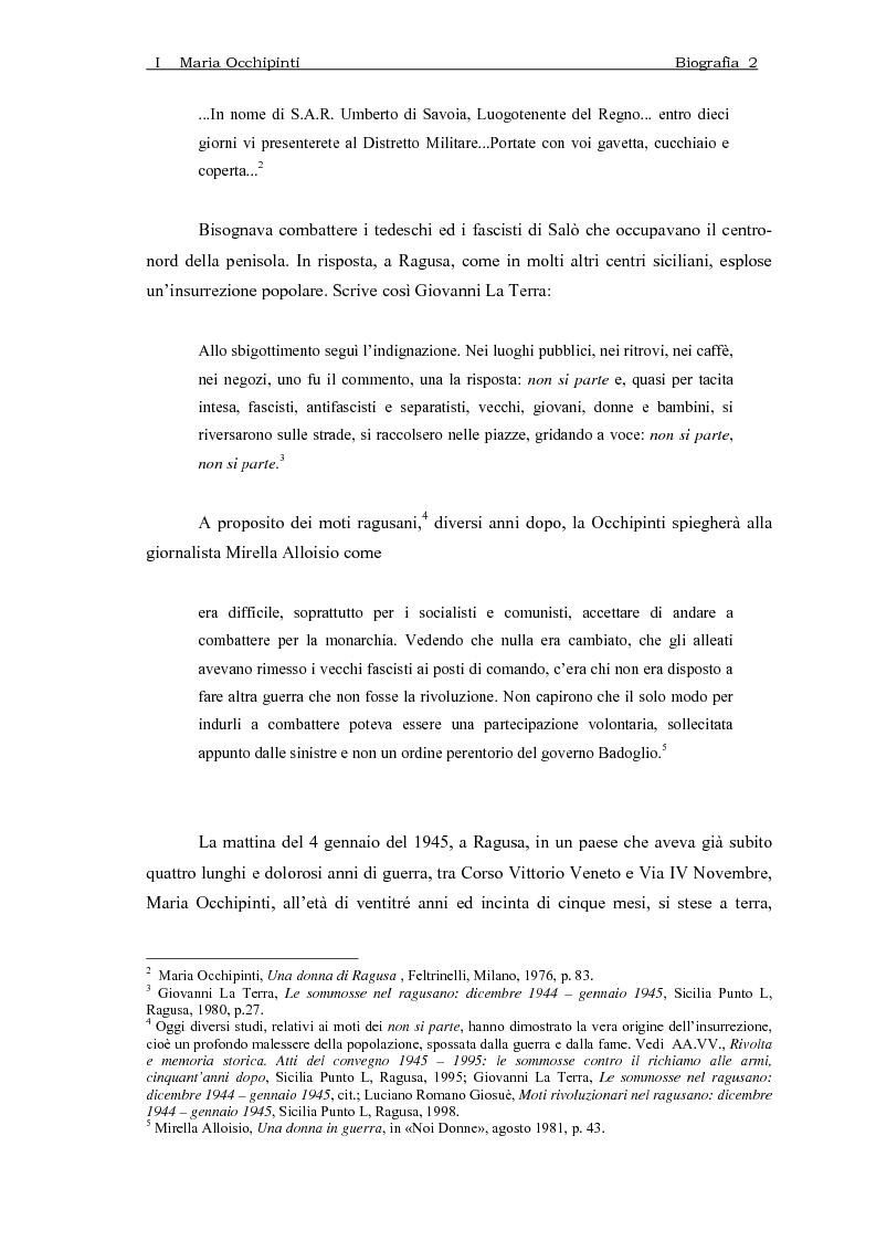Anteprima della tesi: Maria Occhipinti: una ribelle del Novecento, Pagina 5