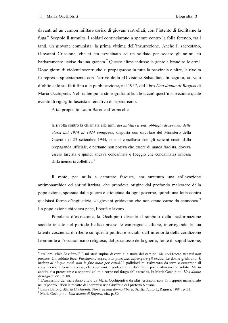 Anteprima della tesi: Maria Occhipinti: una ribelle del Novecento, Pagina 6