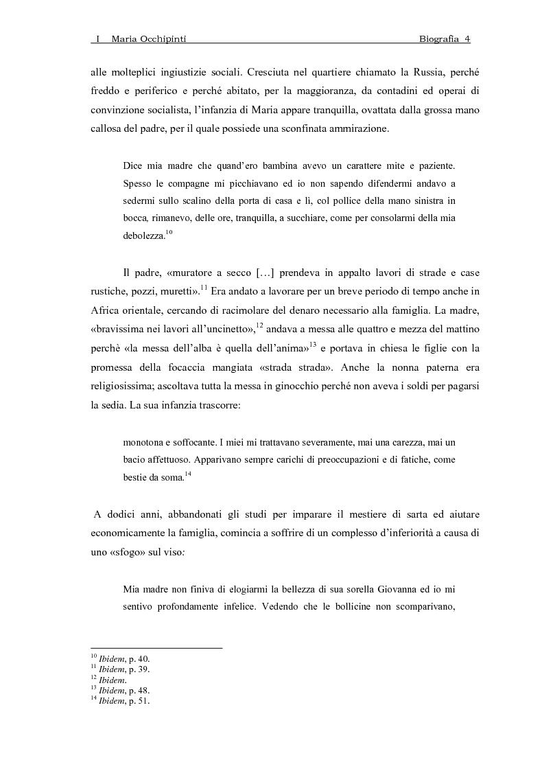 Anteprima della tesi: Maria Occhipinti: una ribelle del Novecento, Pagina 7