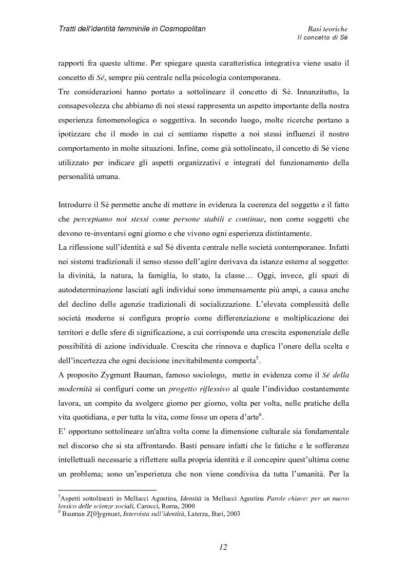 Anteprima della tesi: Tratti dell'identità femminile nella rivista Cosmopolitan, Pagina 10