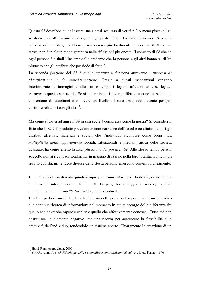 Anteprima della tesi: Tratti dell'identità femminile nella rivista Cosmopolitan, Pagina 13