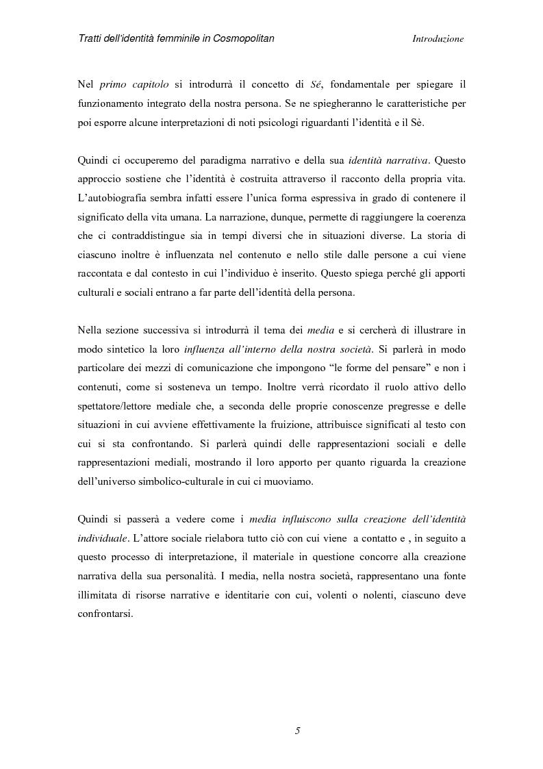 Anteprima della tesi: Tratti dell'identità femminile nella rivista Cosmopolitan, Pagina 3
