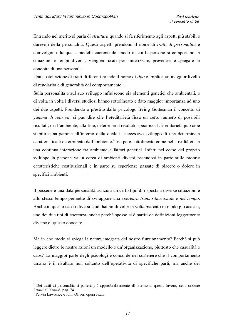 Anteprima della tesi: Tratti dell'identità femminile nella rivista Cosmopolitan, Pagina 9