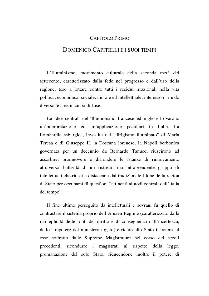 Anteprima della tesi: Domenico Capitelli: vita e studi di un liberale nel Mezzogiorno preunitario, Pagina 1
