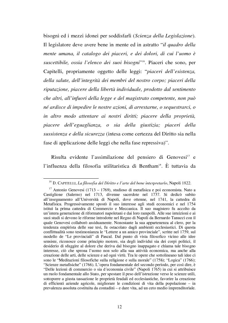 Anteprima della tesi: Domenico Capitelli: vita e studi di un liberale nel Mezzogiorno preunitario, Pagina 12