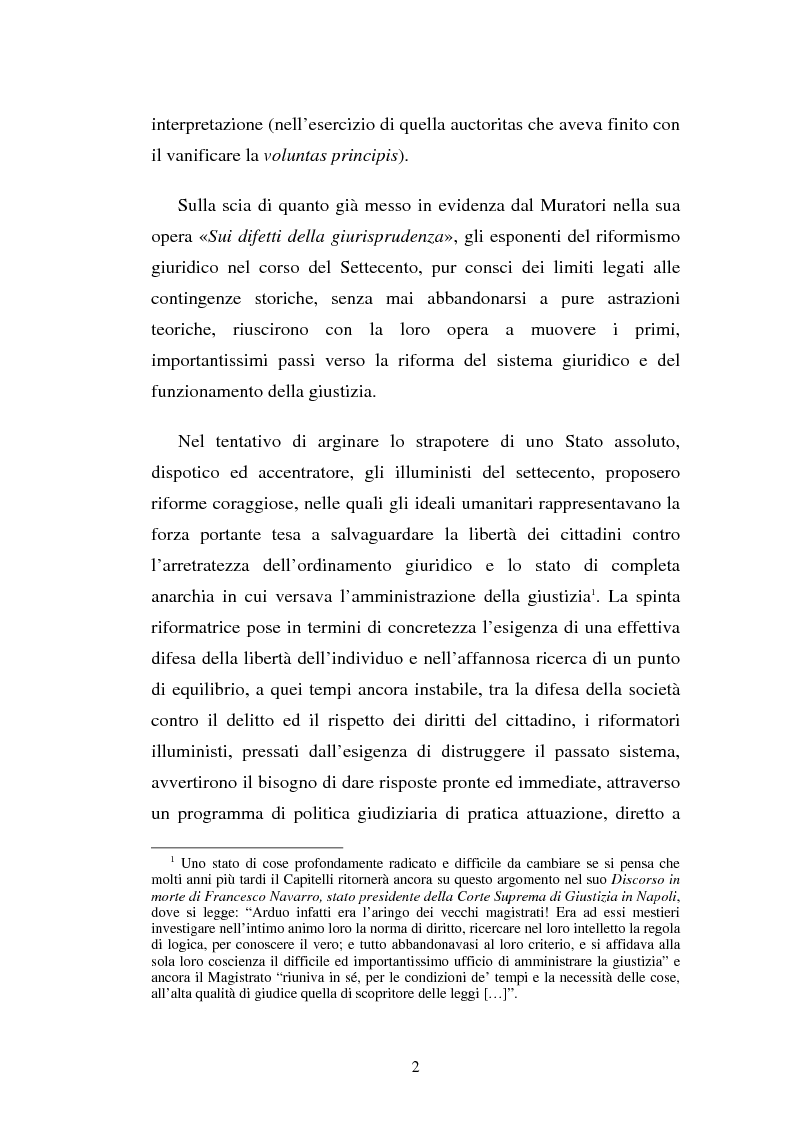 Anteprima della tesi: Domenico Capitelli: vita e studi di un liberale nel Mezzogiorno preunitario, Pagina 2