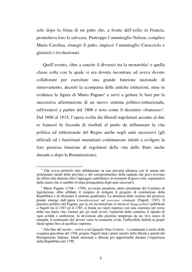 Anteprima della tesi: Domenico Capitelli: vita e studi di un liberale nel Mezzogiorno preunitario, Pagina 5
