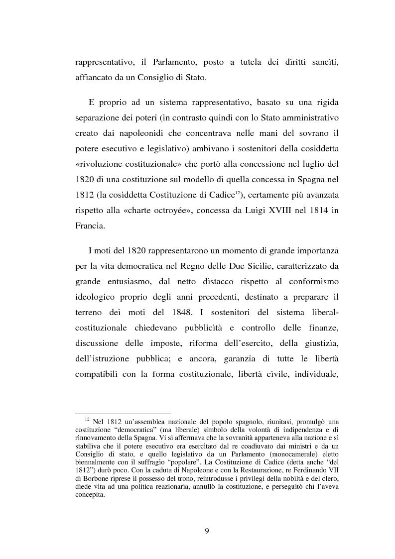 Anteprima della tesi: Domenico Capitelli: vita e studi di un liberale nel Mezzogiorno preunitario, Pagina 9
