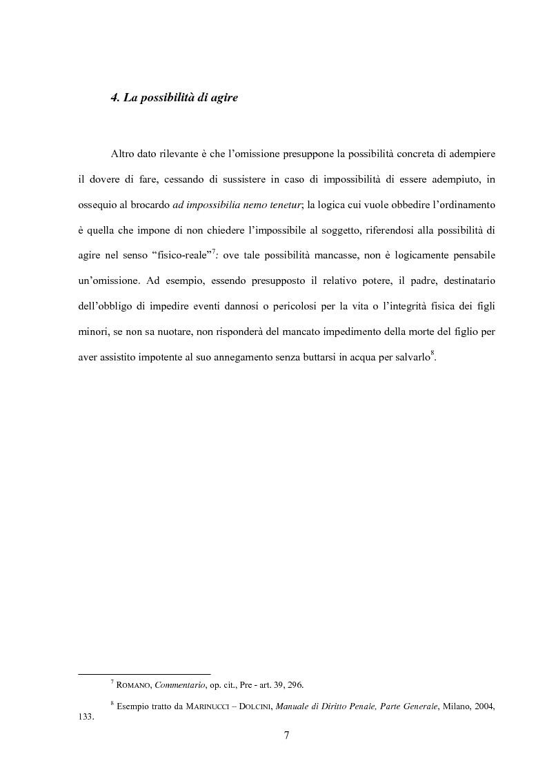 Anteprima della tesi: La posizione di garanzia nel reato omissivo improprio, Pagina 10