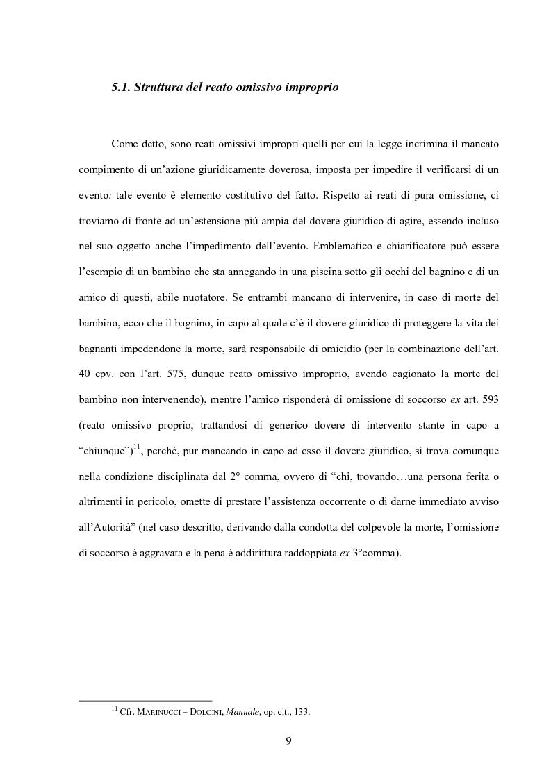 Anteprima della tesi: La posizione di garanzia nel reato omissivo improprio, Pagina 12