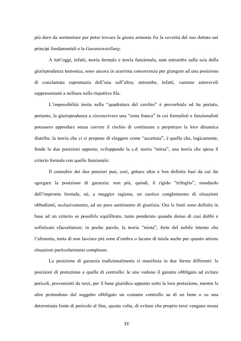 Anteprima della tesi: La posizione di garanzia nel reato omissivo improprio, Pagina 2