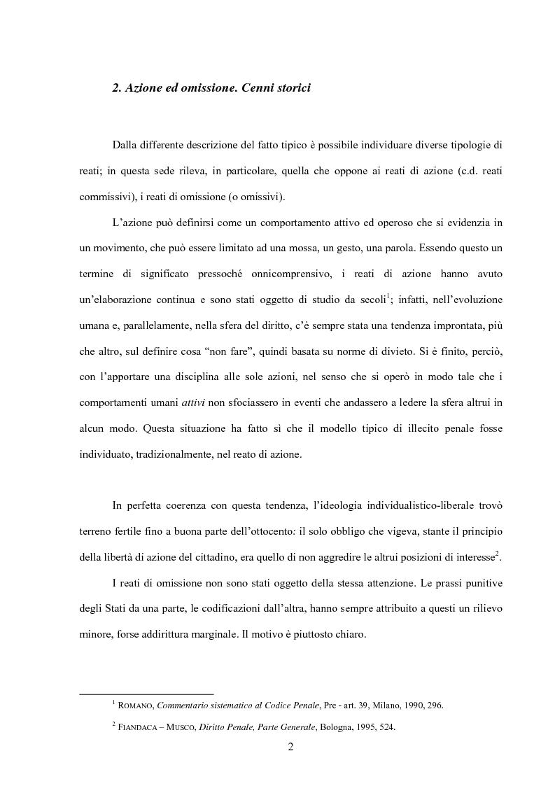 Anteprima della tesi: La posizione di garanzia nel reato omissivo improprio, Pagina 5