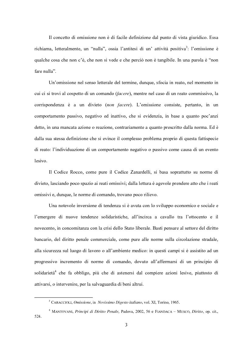Anteprima della tesi: La posizione di garanzia nel reato omissivo improprio, Pagina 6
