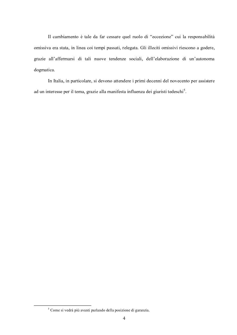 Anteprima della tesi: La posizione di garanzia nel reato omissivo improprio, Pagina 7