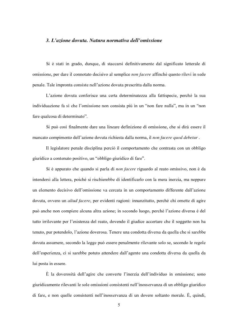Anteprima della tesi: La posizione di garanzia nel reato omissivo improprio, Pagina 8