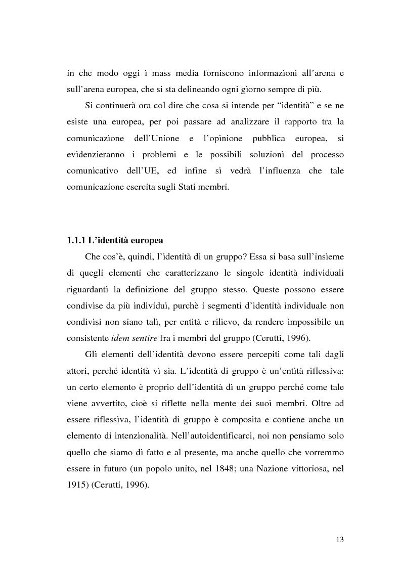 Anteprima della tesi: L' Unione Europea nelle riviste italiane, Pagina 11