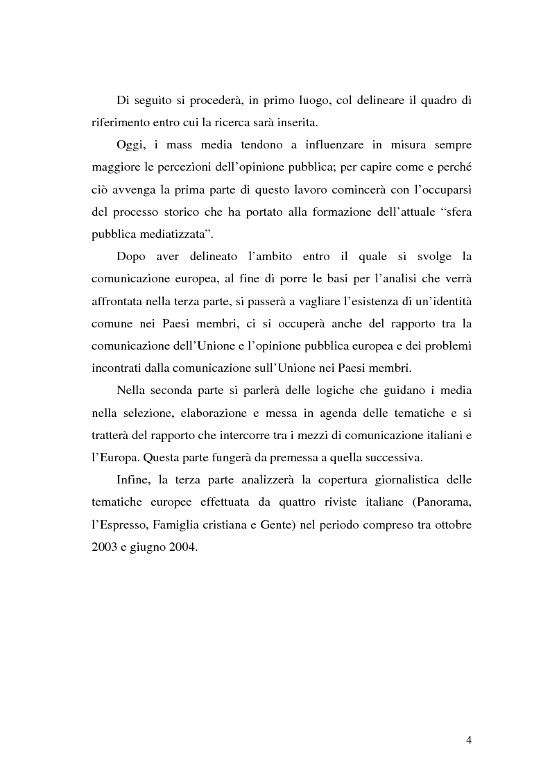 Anteprima della tesi: L' Unione Europea nelle riviste italiane, Pagina 2