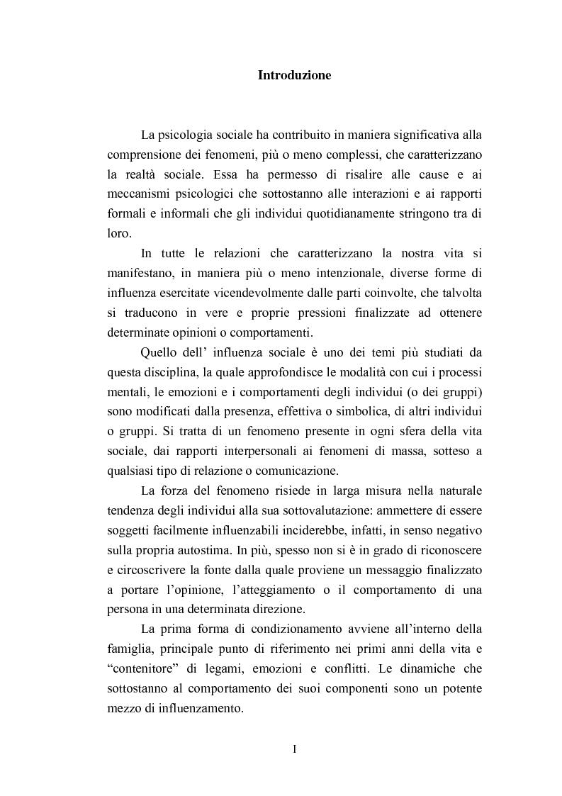 Anteprima della tesi: Indagine esplorativa sull'induzione comportamentale nel sistema di vendita multilivello, Pagina 1