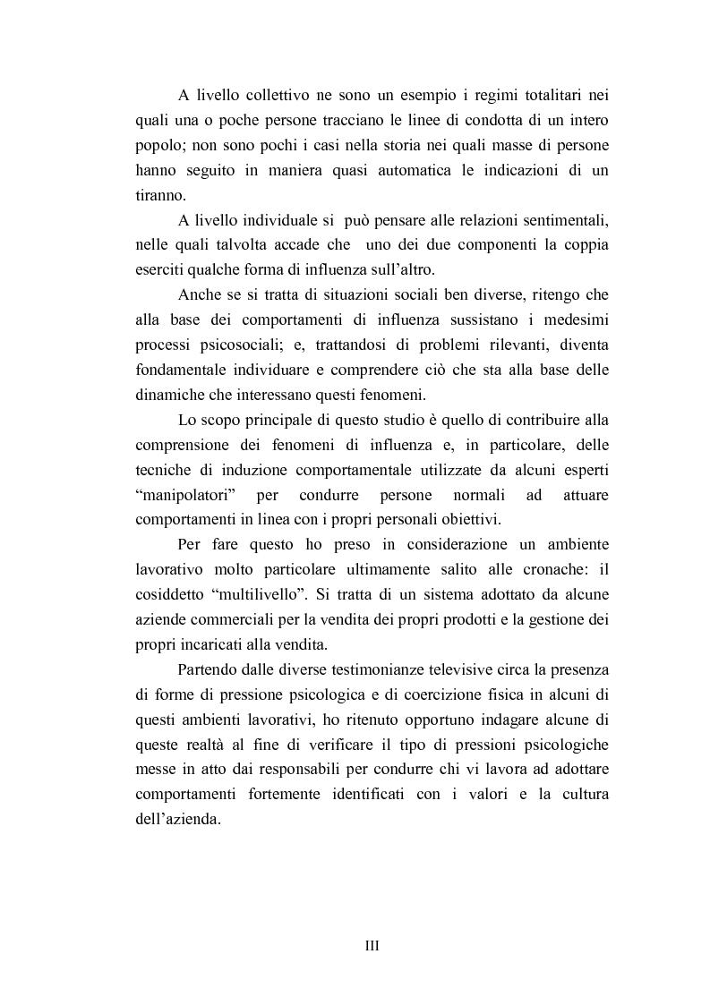 Anteprima della tesi: Indagine esplorativa sull'induzione comportamentale nel sistema di vendita multilivello, Pagina 3