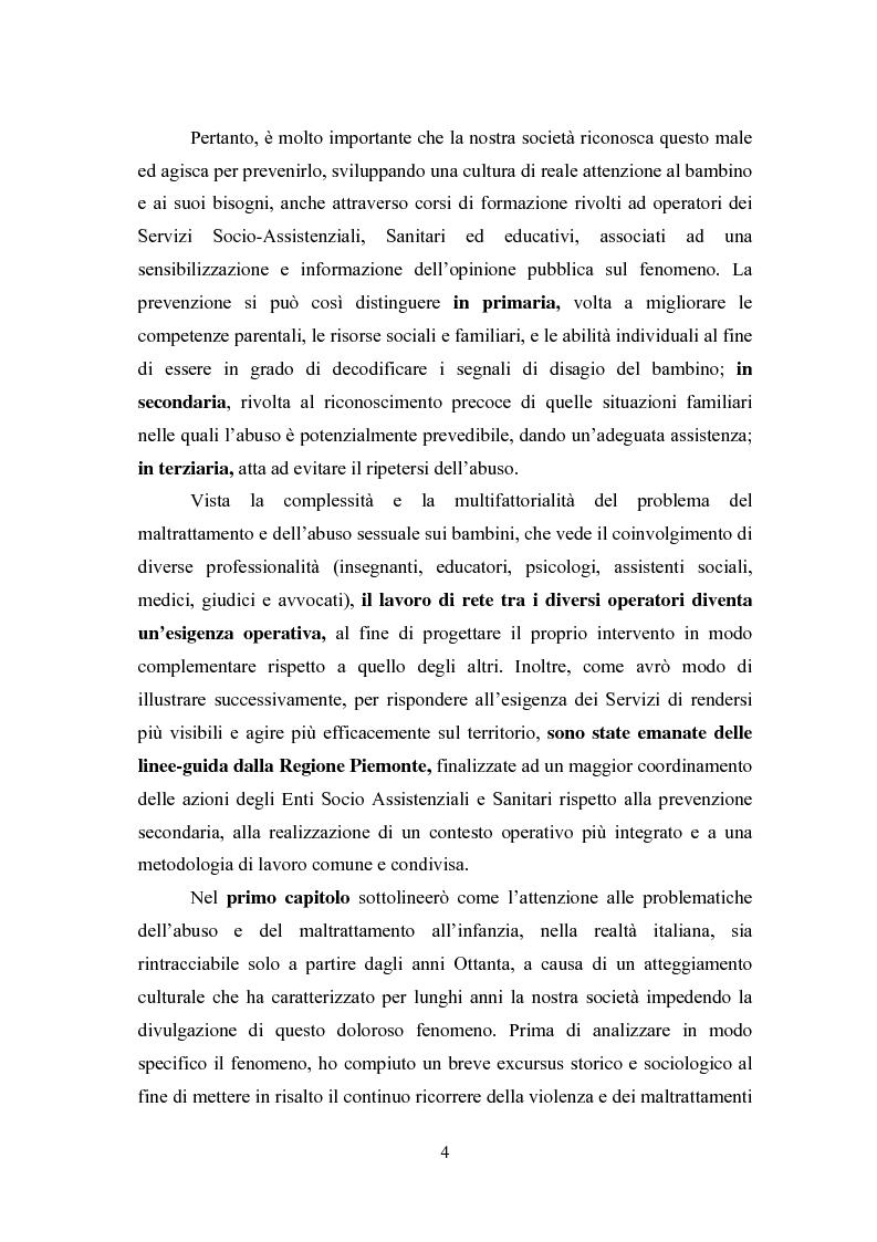 Anteprima della tesi: L' équipe multidisciplinare come strumento per la segnalazione e la presa in carico dei casi di abuso e maltrattamento sui minori, Pagina 2