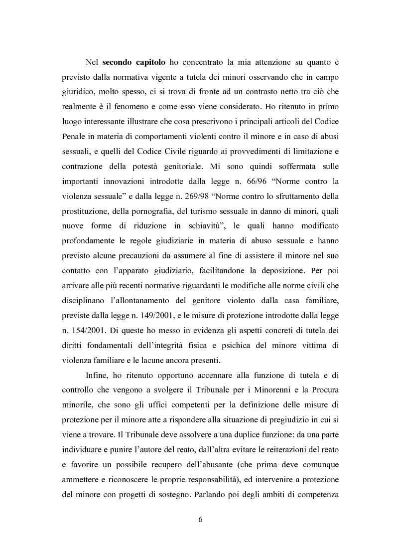 Anteprima della tesi: L' équipe multidisciplinare come strumento per la segnalazione e la presa in carico dei casi di abuso e maltrattamento sui minori, Pagina 4