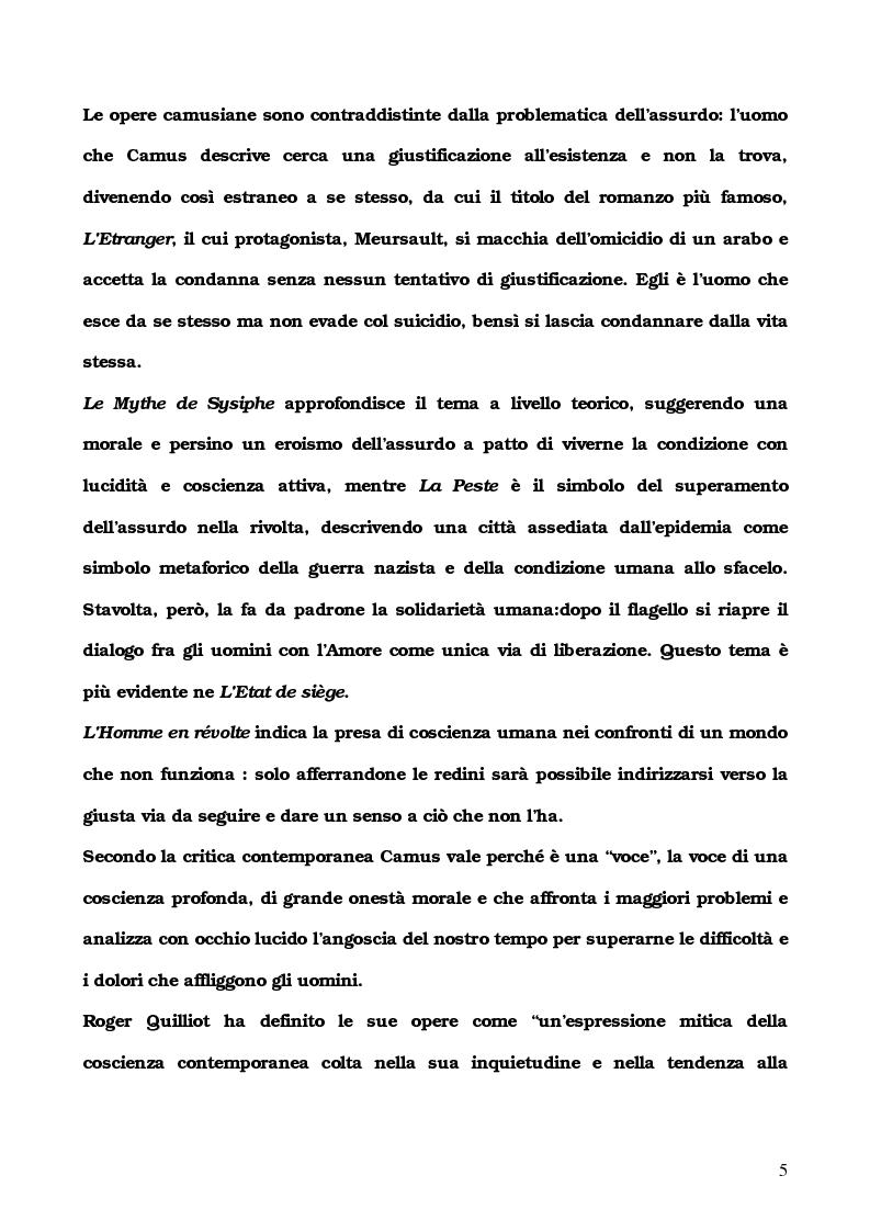 Anteprima della tesi: L'Etranger di Albert Camus, Pagina 2