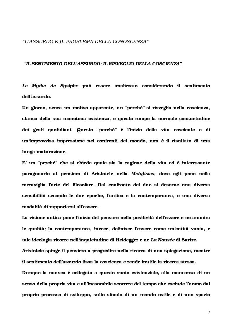 Anteprima della tesi: L'Etranger di Albert Camus, Pagina 4