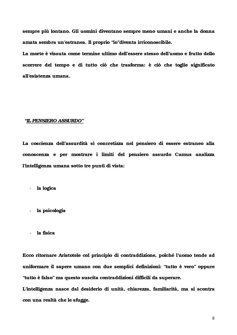 Anteprima della tesi: L'Etranger di Albert Camus, Pagina 5