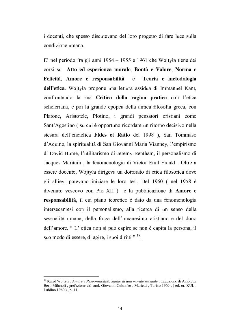 Anteprima della tesi: Karol Wojtyla e la fenomenologia: tra filosofia e teologia, Pagina 11