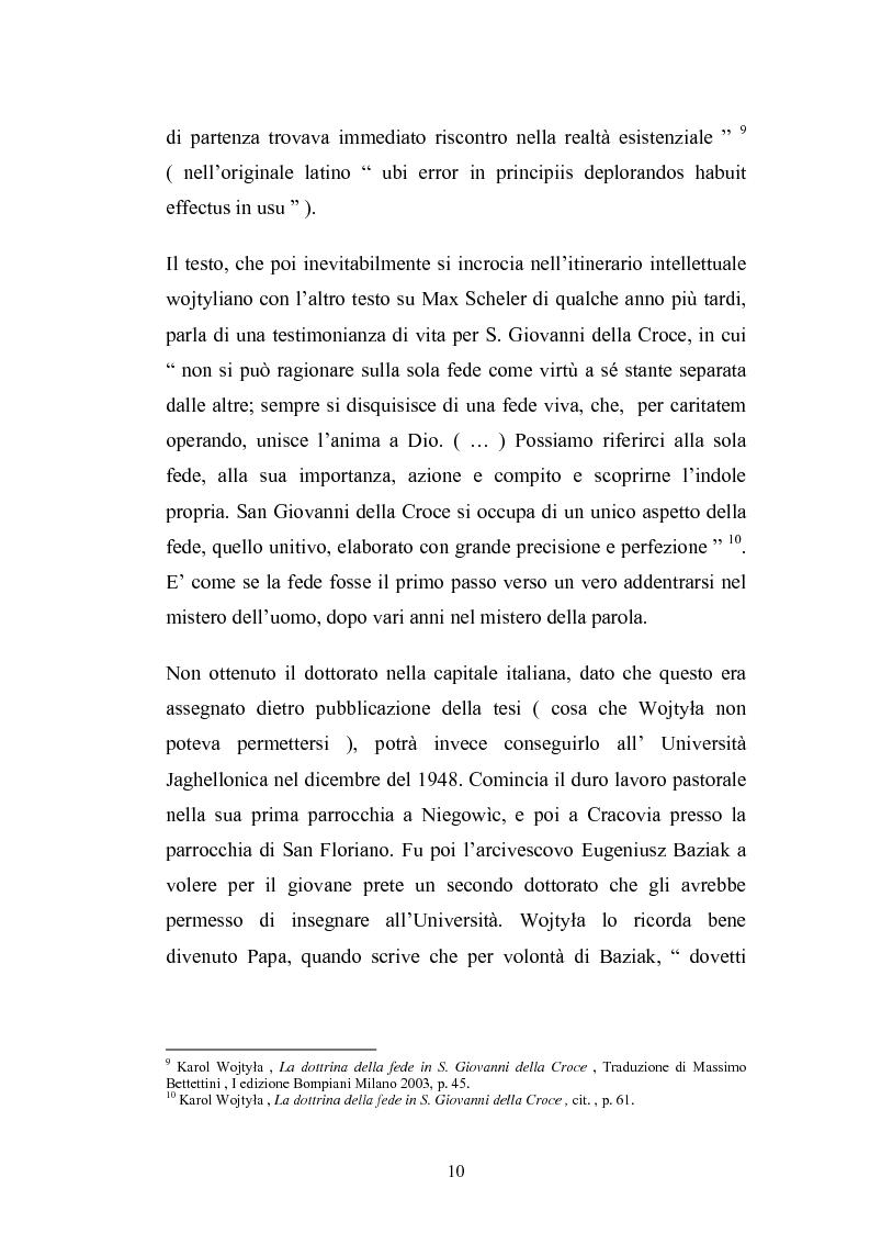 Anteprima della tesi: Karol Wojtyla e la fenomenologia: tra filosofia e teologia, Pagina 7