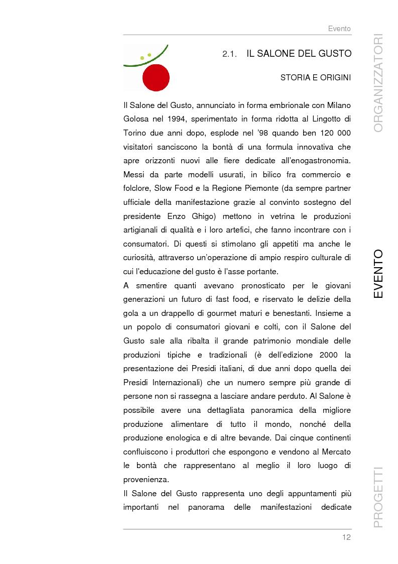 Anteprima della tesi: Analisi e sviluppo del progetto di immagine coordinata relativo al ''Salone del Gusto'', Torino 2004, Pagina 10