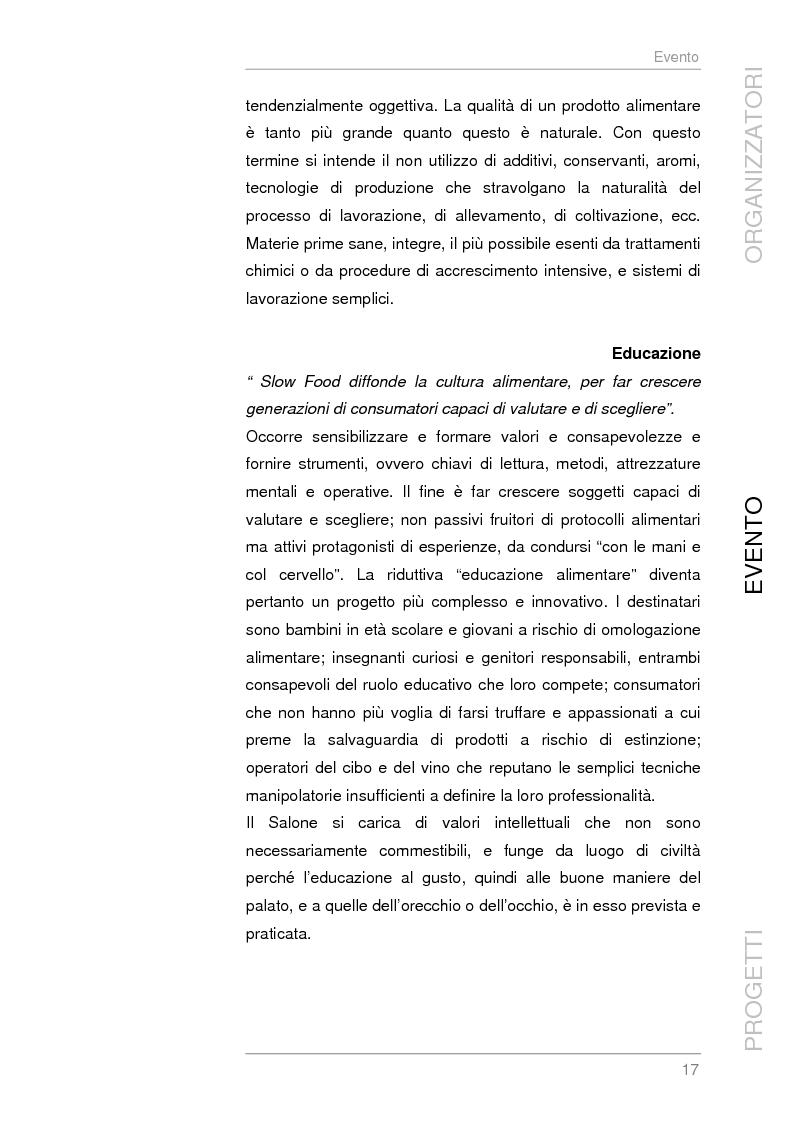 Anteprima della tesi: Analisi e sviluppo del progetto di immagine coordinata relativo al ''Salone del Gusto'', Torino 2004, Pagina 15